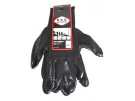 Gloves Black Large, Nitrile Coated