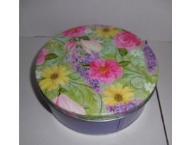 Tin, 2C Flower Garden Purple Base