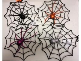 SPIDER WEB W/SPIDER & SUCTION BACK