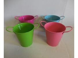 Tin Bucket Colors 4.75X4.5