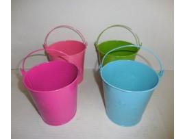 Tin Bucket, Round W/Handle
