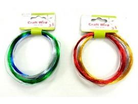 Craft Metal Wire 3pk Asst Colors