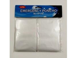 PONCHO, RAIN CLEAR 2 pk.32 X 37