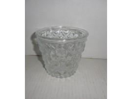 Flower Pot, Clear Glass 4''x4